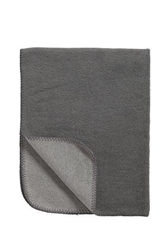Meyco 1431033 Babydecke/Kuscheldecke aus 100 prozent Baumwolle, 75 x 100 cm, grau/anthrazit