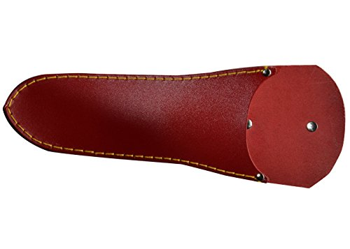 Holster for Jakoti Hand Shears. Quality red leather sheath shaped to fit...