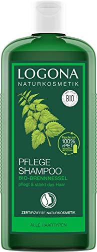 LOGONA Naturkosmetik Pflege Shampoo Bio-Brennnessel, Milde Reinigung für jedes Haar, Schenkt Glanz & Frische, Für die ganze Familie & tägl. Anwendung, Natürliche Haarpflege, 500ml