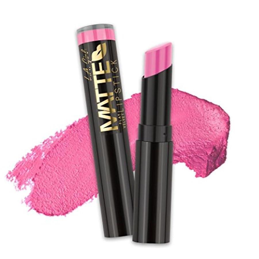 あなたのもの冷酷なさておき(3 Pack) L.A. GIRL Matte Flat Velvet Lipstick - Love Story (並行輸入品)