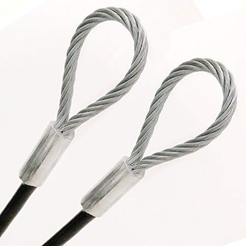 7x19 Braids 3//16 Core Diameter PSI Flexible Multi-Purpose DIY Outdoor Safety Guide Wire Rope 21 feet, Clear 1//4 Vinyl Coated Galvanized Steel Cable with Looped Ends