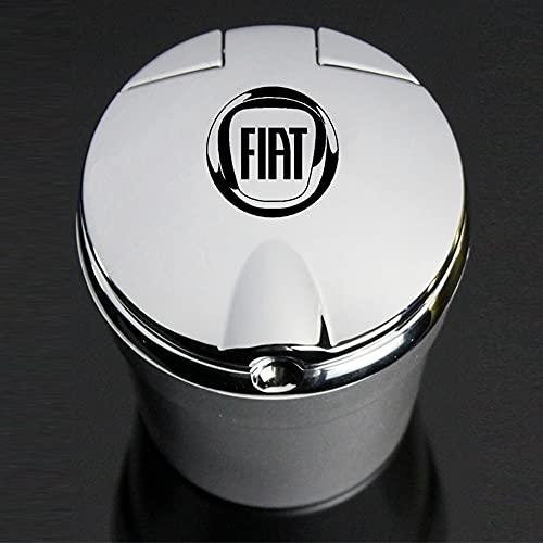 Cenicero Con Luces Led, Logotipo De Coche, Personalidad Creativa, Cenicero Para Fiat Aegea 500c Panda Uno Palio Tipo Doblo, Emblema De Coche, Accesorios Para Automóviles