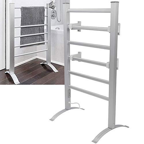 Ausla Radiador de baño, toallero de pared, 100 W, calentador de toallas, calentador de toallas, 45-55 °C, interruptor de temporizador, 53 x 35 x 91 cm (enchufe europeo)