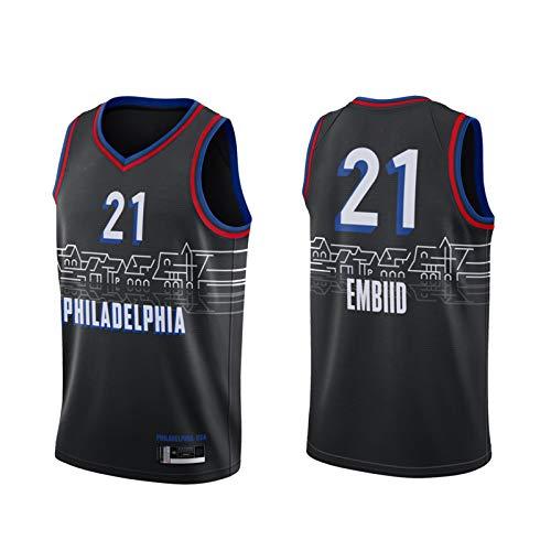 LCSA 76őrs jől EMBСD 2020 - Uniforme de baloncesto para entrenamiento (tallas 3-XL), color negro