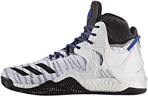 adidas Men's D Rose 7 Primeknit Basketball Shoe, White/Black/Scarlet, 13 M US