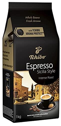 Kawa ziarnista Tchibo Espresso Sicilia Style 1kg, Arabika, Robusta, Ciemno palona, Niska zawartość kofeiny