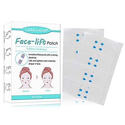 Thin Face Sticker,Face Lifting Patch,Invisible Face Lifting Sticke,Face Lift V Shape Sticker Make-up Face Chin Lift Tools Thin Artifact 40pcs