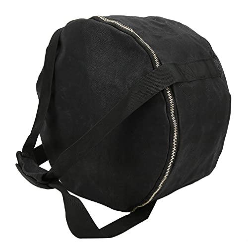 Bolsa de almacenamiento de utensilios de cocina para acampar, buena compatibilidad Bolsa de almacenamiento para ollas de camping Mango cómodo Impermeable y resistente al desgaste para(black)