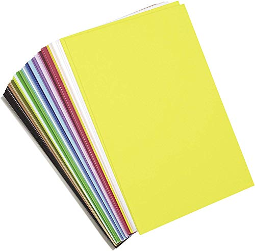 """Darice DariceFoamiesStickyBack6x940pc, 6"""" x 9"""" Sheets (Pack of 40), Assorted, 40 Count"""