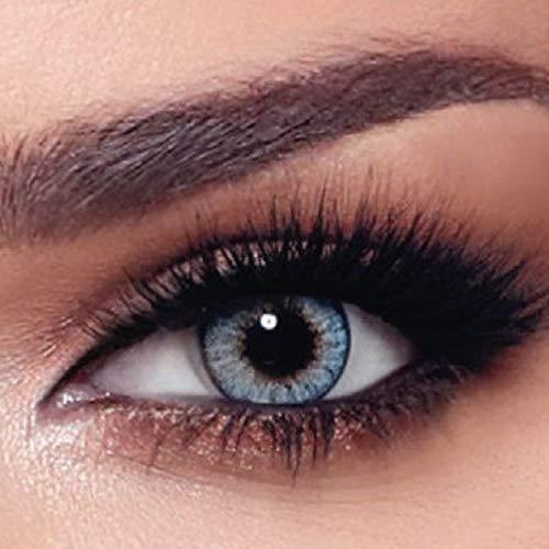 """Bella - 5 Paar Natürliche farbige Tageslinsen (stark deckend) ohne Stärke in Farbe """"One Day Ocean Blue"""