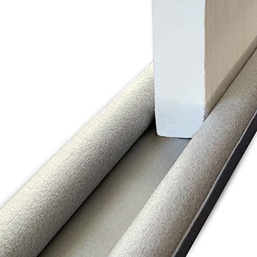 Draft Excluder for Door Bottom with Double Seal - Door Draught Excluder Noise Gap Door Stop Seal - 36 Inch