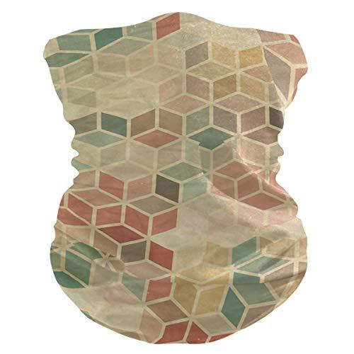 Stoff-Gesichtsmaske für Damen, multifunktional, Bandanas, Schnittmuster, unisex, schönes rautenförmiges Hexagon-Stoff-Maske, bedruckbar, für Herren und Damen, Kopfbedeckung, Kopftuch, waschbar