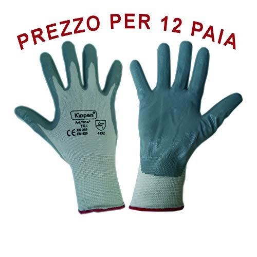 guanti da lavoro nitrile KIPPEN 7014K2 Guanti da Lavoro in Nitrile