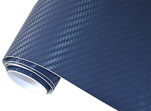 5€/m2 Auto Folie 3D Carbon Folie - DUNKEL BLAU 50 x 150 cm selbstklebend flexibel Car Wrapping