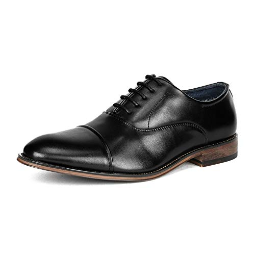 Bruno Marc Men's Black Lace Up Soft Cap-Toe Oxfords Formal Dress Shoes Size 10.5 M US Louis_2 Missouri