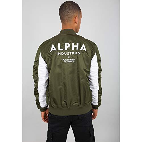 Alpha Industries Chaqueta MA-1 TT Custom verde oscuro, XXL