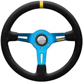 MOMO R1908_35SB Mod 08 350 mm Suede Steering Wheel with Blue Spokes