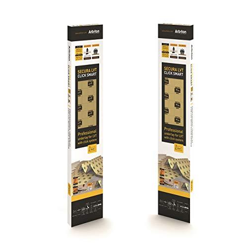 Sottopavimento speciale per pavimenti PVC LVT SECURA CLICK SMART 1,5 mm -Conf. 6,25 Mq