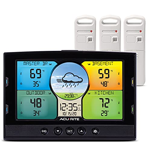AcuRite Multi-Room Weather Station with Wireless Indoor Outdoor Thermometer and Digital Color Display with Weather Forecaster (02082M)