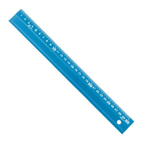 シンワ測定(Shinwa Sokutei) アルミ直尺 アル助 30cm シャイニングブルー 65415
