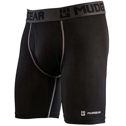 "MudGear Men's Performance Boxer Brief, 9"" Inseam - Breathable Wicking Compression Underwear - Running, OCR, Fitness (Med: 32"