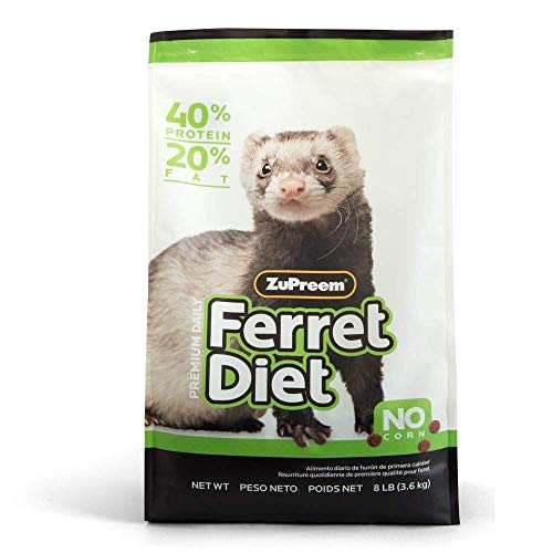 ZuPreem Premium Daily Ferret Diet Food - Nutrient Dense, Highly Digestible, High Protein Levels (8 lb Bag)
