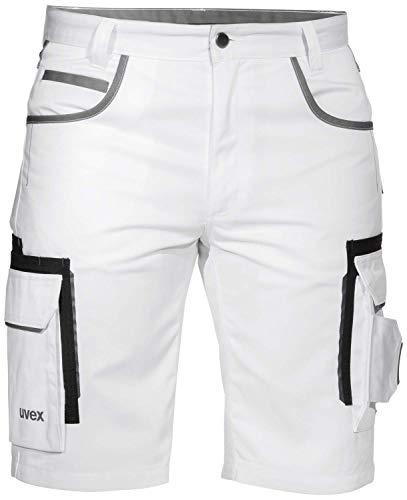 Uvex Tune-Up Maler-Arbeitshosen Kurz - Cargo-Shorts für die Arbeit - Weiß - Gr 48
