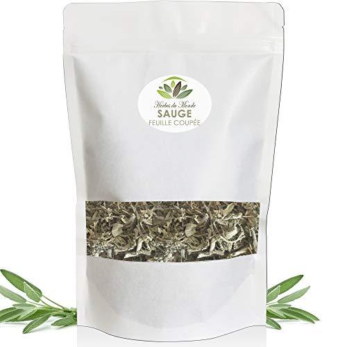 Tisane Sauge Officinale - Feuille coupée Naturelle - Infusion Détoxifiante et Tonifiante Soulage la Toux - 50g