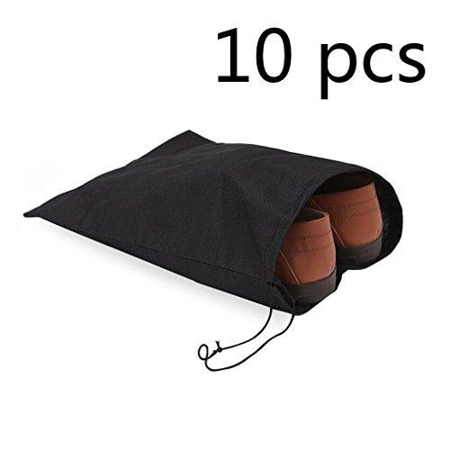 Zedtom - Bolsa para calzado, 36 x 28,5 cm, 10unidades, color negro