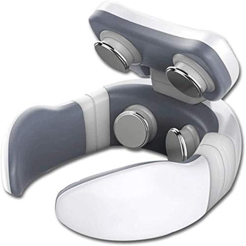 HE-XSHDTT Masseur de la Colonne cervicale et protège-Nuque, avec 4 têtes de Massage, Impulsion de Massage Intelligent de la Colonne cervicale, Masseur des épaules et du Cou