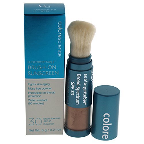 Colorescience Sunforgettable Loose Mineral Suncreen Brush SPF30 - Tan 6g/0.21oz