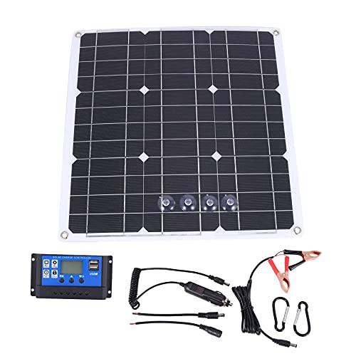 wivarra Kit de Panel Solar de 200 Vatios 200 Vatios con Controlador Solar LCD 12V RV Barco Fuera de la Red
