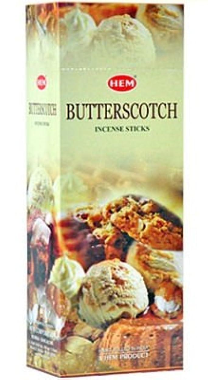 に渡ってケント汚染するHEM(ヘム)社 バタースコッチ香 スティック BUTTERSCOTCH 6箱セット