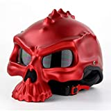 BIN Casque personnalisé, Demi-Casque de Locomotive de Mode, Casque Double-Face Frais,Red,XL