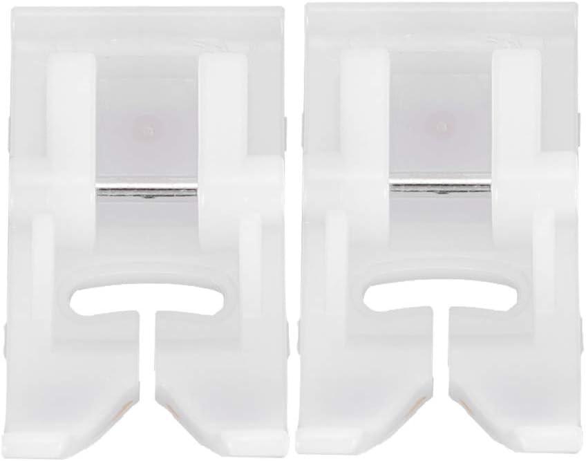 Fdit Prensatelas para máquina de Coser Antiadherente de plástico de Alta dureza 2 Piezas para máquina de Coser doméstica Feiyue/Brother/Singer/Butterfly/Acme