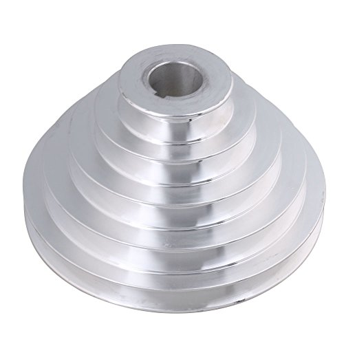 Mxfans 25mm Bore Outter Dia 54-150mm 5 Step A Type V-Belt Pagoda Pulley Belt