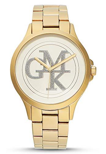 GMK Times dameshorloges analoog kwarts één maat goud roestvrij staal 32011677
