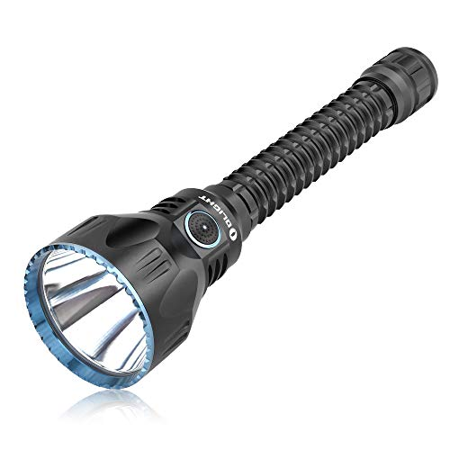 Olight Javelot Pro Linterna Táctica 2100 Lúmenes Potente Linterna Max 1080 Metros, Cargada con Cable USB Magnético, Alimentada por 2 Pilas de 3500 mAh 18650, Ideal para Caza, Búsqueda y Rescate