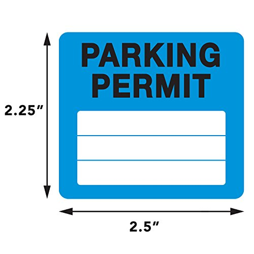 Parking Permit Pass Stock Static Cling Windshield Sticker Non-Adhesive for Employees, Tenants, Students, Businesses, Office, Apartments, by Milcoast, 10 Pack (Blue) Photo #3