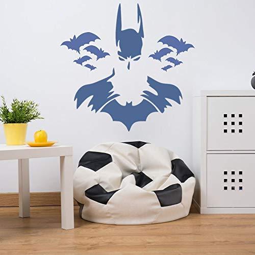 ASFGA Fledermaus Superheld Silhouette Wohnzimmer Wandaufkleber Aufkleber Superhelden Aufkleber Home Schlafzimmer Junge Schlafzimmer Dekoration Stern Cartoon Auto Aufkleber 57x40cm