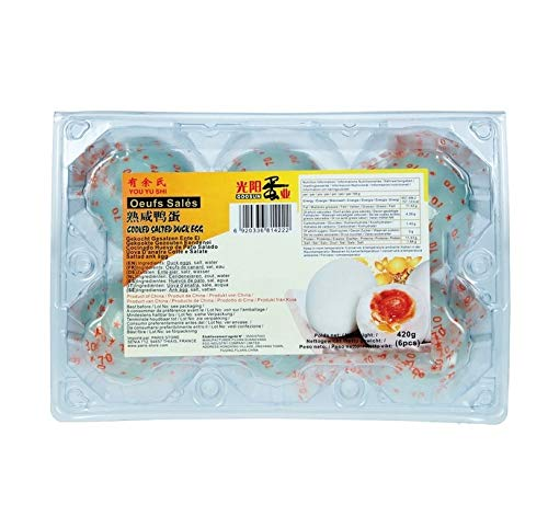 Enteneier 6 Stück Gekocht Gesalzen Verzehrfertig Haltbar Duck Eggs Hamtan 420g