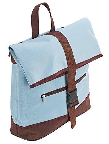 Prophete Fahrrad-Einkaufstasche, Gepäckträgermontage, blau/Braun, M