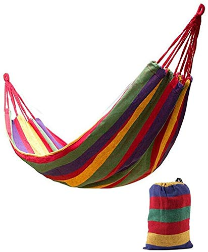ZJDU Portátil Hamaca Playa Hamaca Cuello Lienzo Lienzo al Aire Libre Camping Playa Viaje Columpio Hamaca Camping Doble Single con Banda de árbol (Color : B)