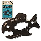 Piranha Multitool Bottle Opener - Travel Gifts - Keychain Bottle Opener - Bottle Opener Keychain For Men - Keychain Screwdriver - Pocket Screwdriver - Multiple Tools In One - Trixie and Milo