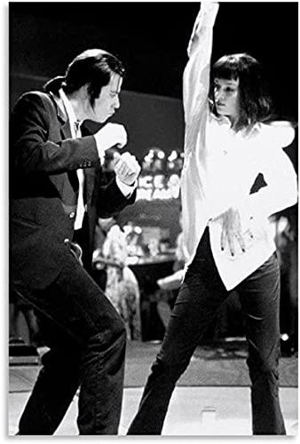 """Iooie GemäLde Auf Leinwand Pulp Fiction Dance Film Film Vintage für Schlafzimmer Dekor Wandkunst Malerei Poster Druckt Bilder 19.7""""x27.6""""(50x70cm) Kein Rahmen"""
