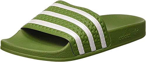 adidas Herren Adilette Aqua Schuhe, Mehrfarbig (Tech Olive/FTWR White/Tech Olive Ee6183), 43 EU