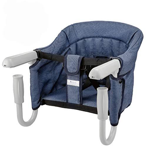 Mesa Asiento de mesa para bebé – plegable Trona de Viaje Arnés de 5 puntos, Sillita para bebé ajustable a la mesa