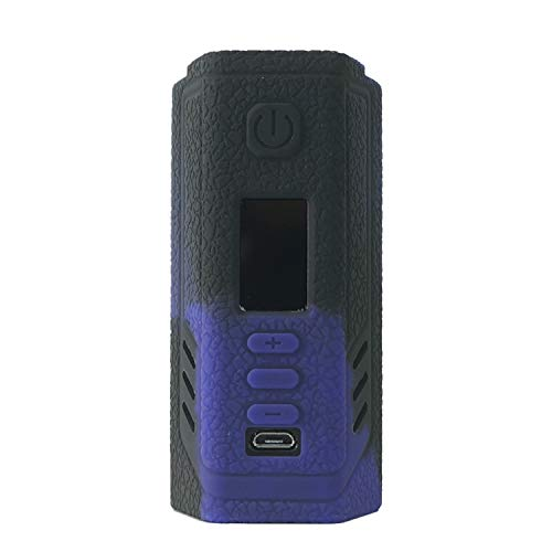 Rayley Protective Silicone Case Skin Cover Sleeve Wrap Shield for Lost Vape Triade DNA250C TC Box MOD (Black Purple)