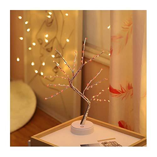 Pequeña luz nocturna LED de 5 puntas, copo de nieve, amor, luz de árbol en forma de ciruela; color para la decoración de interiores, luz cálida ambiental, D.