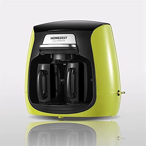 SONG Máquinas de café Verde Doble Copa Café Máquina de Vidrio Pote de Vidrio Máquina de café Doble Copa automática Máquina de café Doble...
